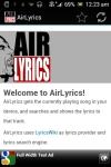 AirLyrics screenshot 1/3