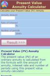 Present Value Annuity Calculator V1 screenshot 2/3