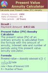Present Value Annuity Calculator V1 screenshot 3/3