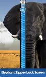 Elephant Zipper Lock Screen Free screenshot 1/6