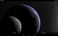 Earth and Moon in HD Gyro 3D PRO absolute screenshot 1/6