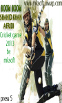 Boom Boom shahid afridi cricket game screenshot 5/6