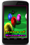 Rules of Snooker Game screenshot 1/3