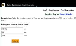 Inch/cm/Foot Conversion screenshot 1/2