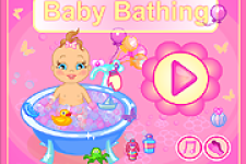 Cute Baby Taking Bath screenshot 1/3