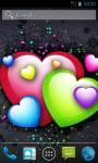 Beating Color Hearts Live Wallpapers screenshot 1/3