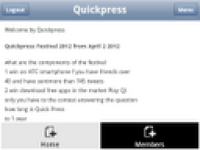 Quickpress Mobile screenshot 2/6