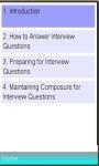 Successful Interview Guide screenshot 1/1