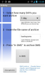 A-SMS archive and backup screenshot 1/3
