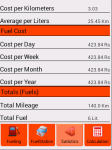 Fuel Tracking screenshot 2/4