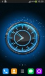 Blue Neon Clock screenshot 1/6