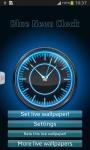 Blue Neon Clock screenshot 2/6