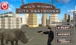 wild rhino city destroyer screenshot 1/5