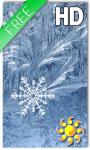 Snowflakes Frozen LWP screenshot 1/2
