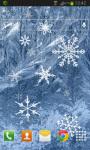 Snowflakes Frozen LWP screenshot 2/2