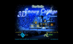 3D Snowy Cottage Free screenshot 1/3