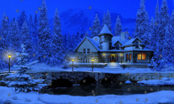 3D Snowy Cottage Free screenshot 2/3