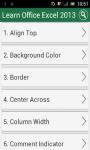 Learn MS Excel 2013 screenshot 1/3