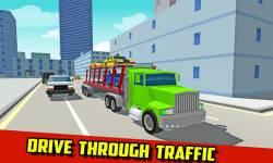 Car Transport Truck: Blocky screenshot 1/4
