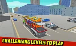 Car Transport Truck: Blocky screenshot 2/4