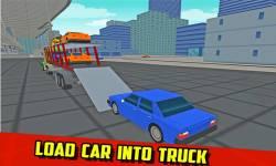 Car Transport Truck: Blocky screenshot 3/4