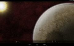 Rotating Planet Live Wallpaper screenshot 1/5