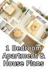 1 Bedroom Apartment/House Plans screenshot 1/5