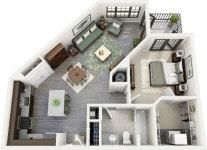 1 Bedroom Apartment/House Plans screenshot 2/5