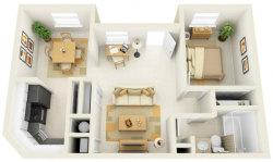 1 Bedroom Apartment/House Plans screenshot 3/5
