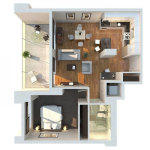 1 Bedroom Apartment/House Plans screenshot 4/5
