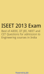 ISEET 2013 exam screenshot 1/3