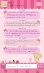 GO SMS Pro Pink Sweet theme screenshot 6/6