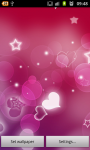 Red Hearts Live Wallpaper free screenshot 1/6