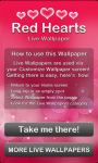 Red Hearts Live Wallpaper free screenshot 5/6