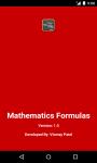 Mathematics Formulas screenshot 1/6