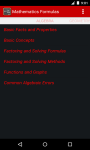 Mathematics Formulas screenshot 2/6