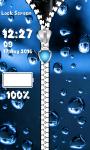 Raindrops Zipper Lock Screen screenshot 5/6