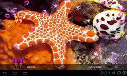 3D Starfish Live Wallpaper screenshot 3/5