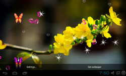 3D Apricot Blossom Live Wallpaper screenshot 1/5