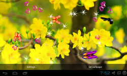3D Apricot Blossom Live Wallpaper screenshot 3/5