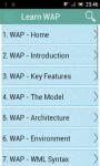 Learn WAP screenshot 1/3