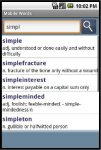 Mobile Words English Dictionary screenshot 1/1