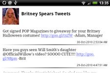 Britney Spears Tweets screenshot 3/4