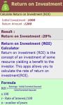 Return on Investment Calculator screenshot 3/3