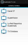 Guatemala Tv Live screenshot 1/2