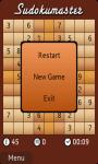 Sudokumaster Game screenshot 1/3