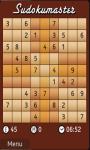 Sudokumaster Game screenshot 2/3