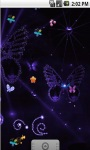 Neon Butterfly Animated Live Wallpaper screenshot 3/5