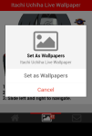 Itachi Uchiha Live Wallpaper screenshot 5/5