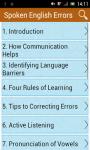 Spoken English Errors screenshot 1/3